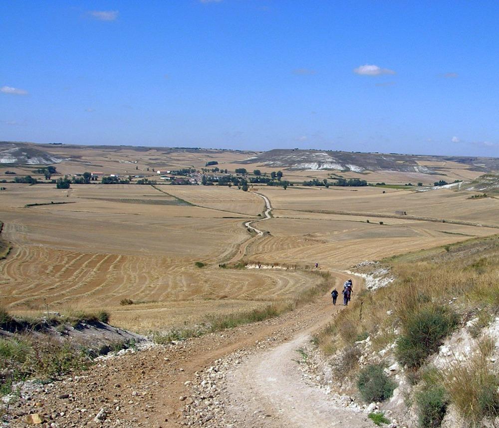 estapa del camino de santiago entre burgos y hontanas