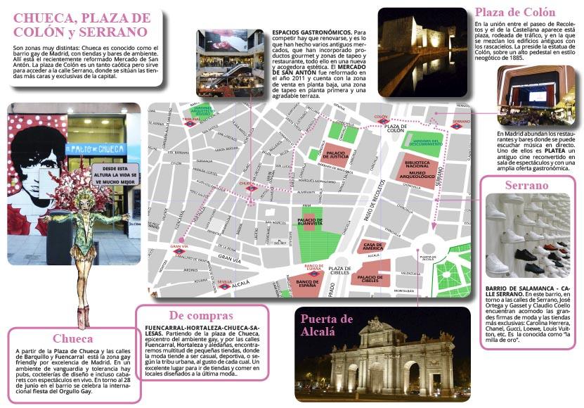 Callejea Por El Barrio De Chueca Plaza Colón Y La Calle Serrano